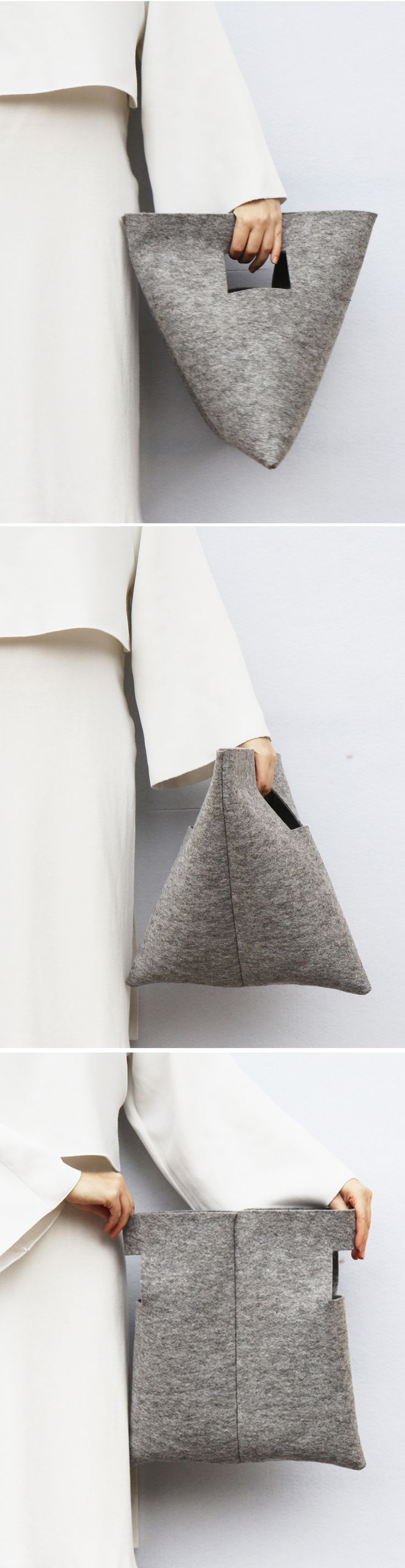 M Bag | by IF irinaflorea | minimalist | felt
