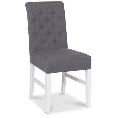 Twitter stol - Grått tyg/ Vita ben