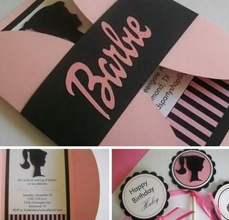 invitaciones de cumpleaños caseras de barbie