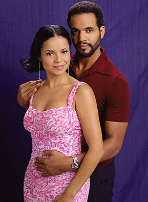 Victoria Rowell and Kristoff St John - The Young and the Restless