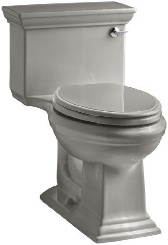 kohler memoirs stately comfort height onepiece elongated gpf toilet with aquapiston flush technology and righthand trip lever cashmere - Kohler Memoirs