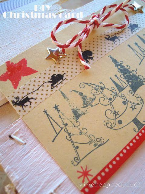 #nataleincasatrippando Vivere a piedi nudi living barefooted: #DIY #Christmas #card - #Biglietti di #Natale #faidate (contest Lilly Piccolina)