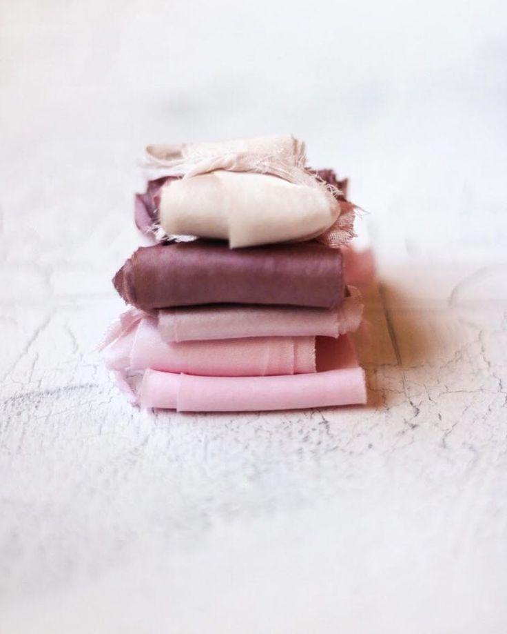 Hand-dyed silk ribbon #silkribbon #handdyedsilkribbon