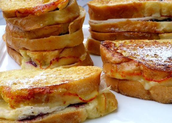 Leftover Turkey Cranberry Monte Cristo Sandwiches the perfect after holiday lunch from NoblePig.com