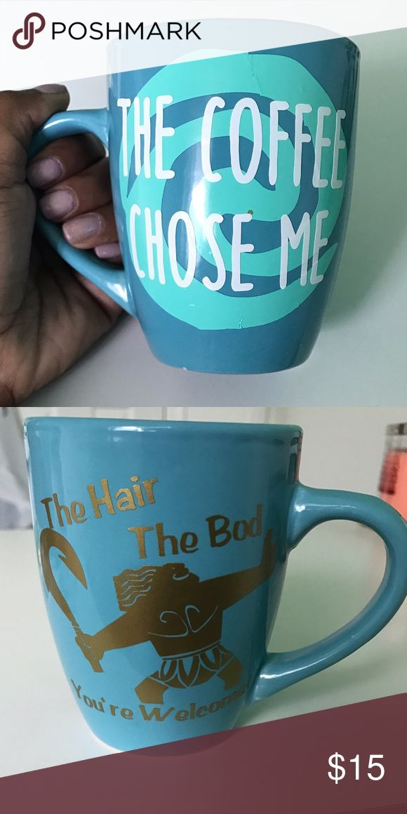 Moana Mug Double sided Moana Disney themed mug! Price is firm. :) Can do single sided mug for $12 though. Please add 4 days to shipping as this item is made to order! Check out my listings for more custom creations :) Disney Accessories