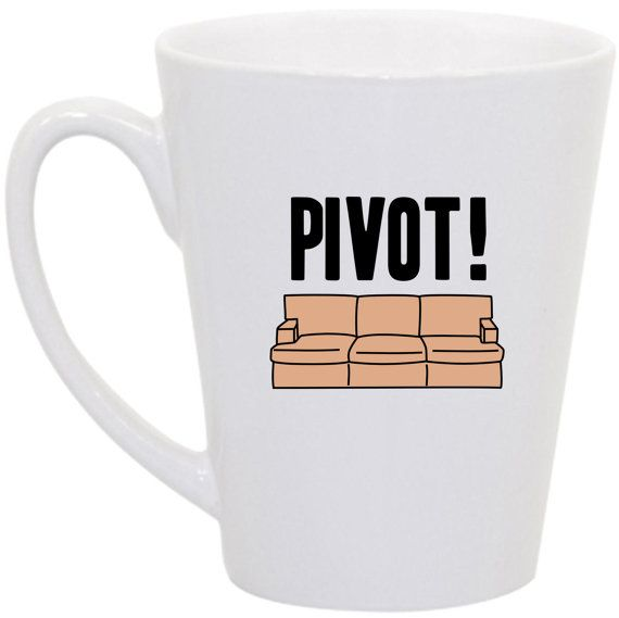 Friends PIVOT coffee mug by perksofaurora on Etsy, $16.00 Friends, Friends TV Show, Pivot, Friends quote, Friends TV quotes, coffee mug, funny coffee mug