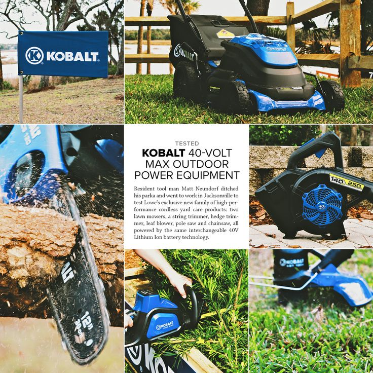 The Kobalt 40V Max Outdoor Power Equipment ($149-$399) lineup is Lowe's new family of cordless yard care products.