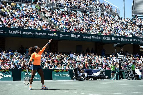 Serena serves it up