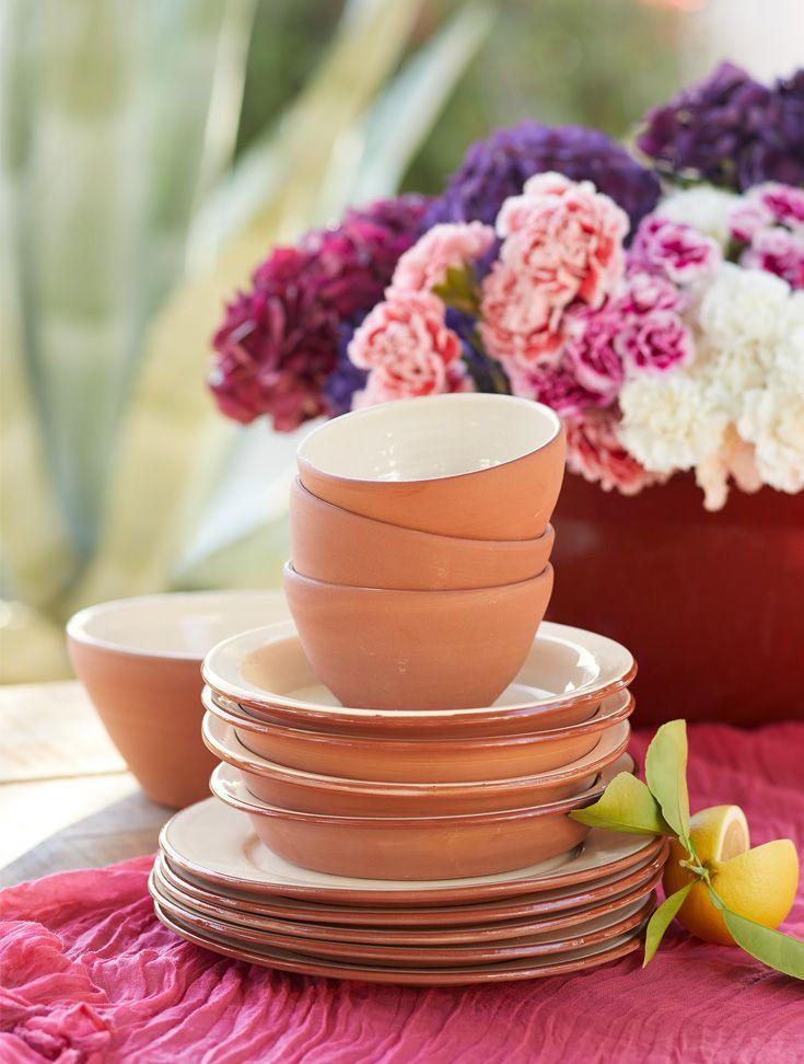 Calisto Dinnerwear - handmade terra cotta bowls and plates.