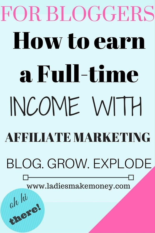 How to earn a full -time income with affiliate marketing. If you are starting an online blog and are looking for ways to make money from home, consider using affiliate marketing. Affiliate marketing is a way earn a commission on products and services you recommend to other people