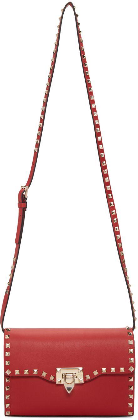 Valentino - Red Valentino Garavani Medium Rockstud Flap Bag
