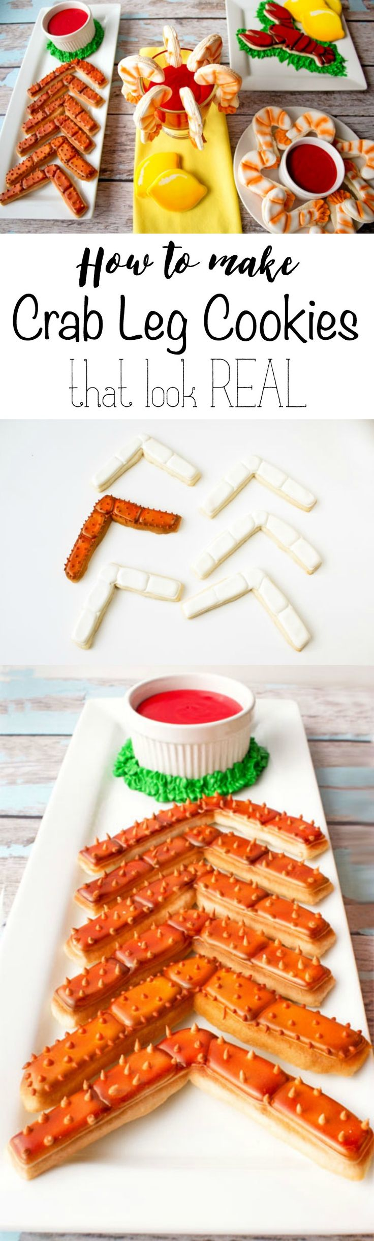 How to Airbrush Cookies that Look Like Real Crab Legs | The Bearfoot Baker