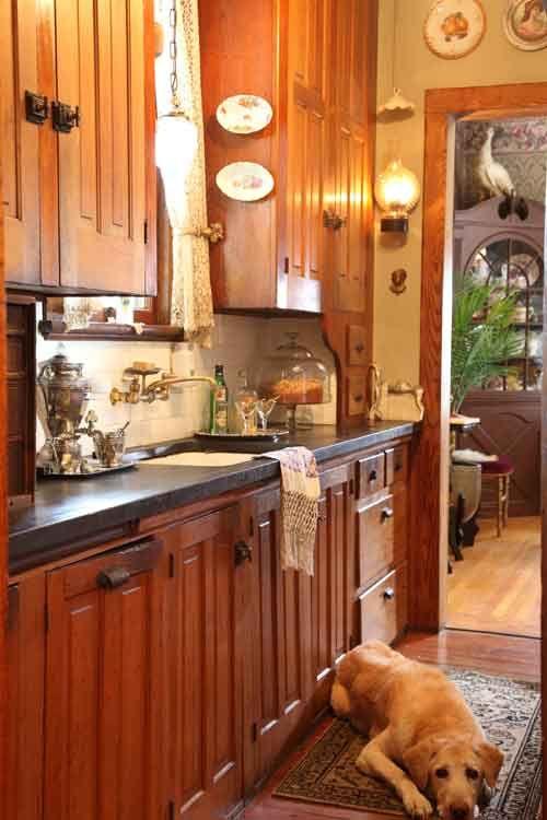An original butler's pantry in an 1894 Queen Anne. (Photo: Franklin & Esther Schmidt)