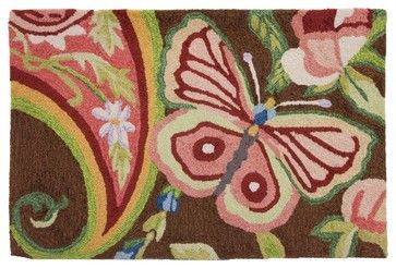 Paisley Butterfly Rug transitional rugs