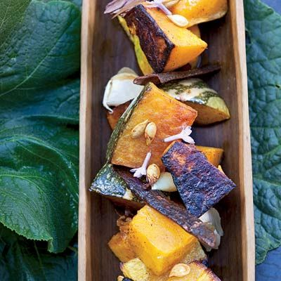 Fall Squash Recipes - Ideas for Squash ~ the squash gets tossed with pumpkin pie spices and glazed with coconut milk!  This sounds positively HEAVENLY!!!