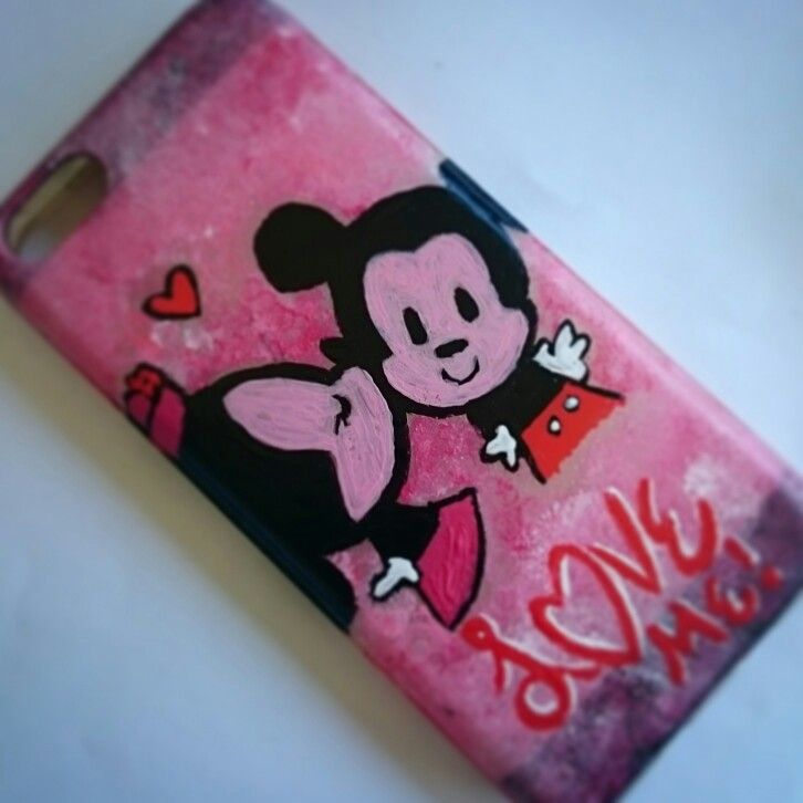 Minnie & Mickey lovely handmade cover per iPhone