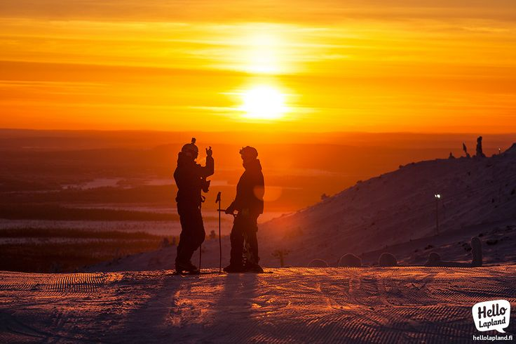 Enjoying rare moments of sunlight on top of Levi fell in Lapland, Finland. Shot 7.12.2013.