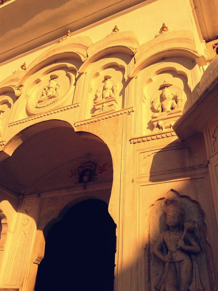 Carvings at the entrance of Hawa Mahal, Jaipur, Rajasthan, India