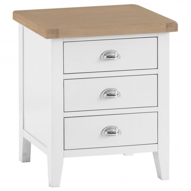 Bisbee White Extra Large Bedside Contemporary Bedroom Furniture