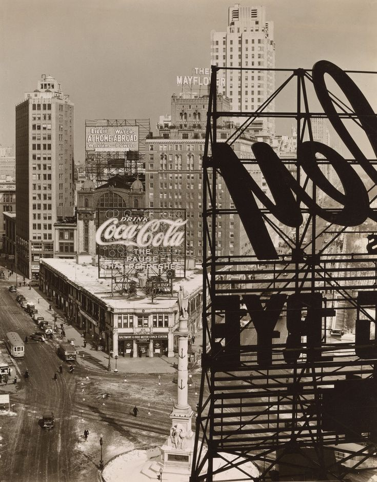 Columbus Circle, Manhattan, 1938 by Berenice Abbot
