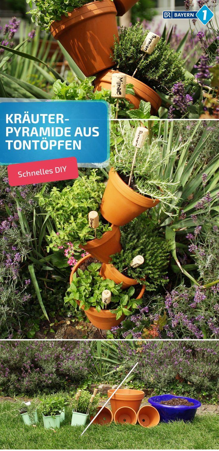 Krauterpyramide Von Terrakottatopfen Sommerliche Deko Und Mobel Deko Krauterpyramide Mobel Sommerli Garden Inspiration Backyard Decor Growing Herbs