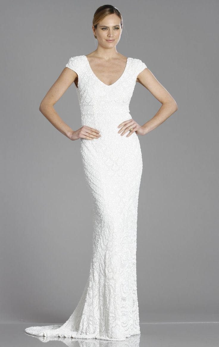 The perfect party but sophisticated wedding dress.  Theia 890098 by Theia Bridal Spt 2014 $1695 white beaded goen