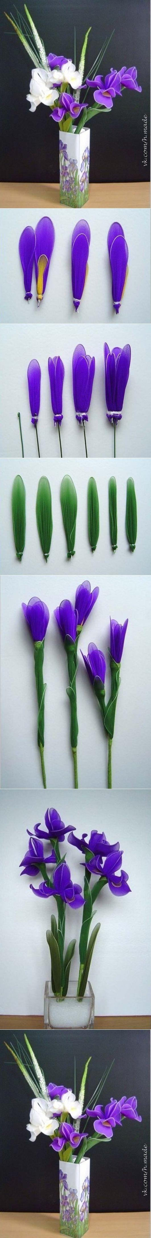 how to DIY Easy Wrapped Nylon Flowers | www.FabArtDIY.com LIKE Us on Facebook ==> https://www.facebook.com/FabArtDIY