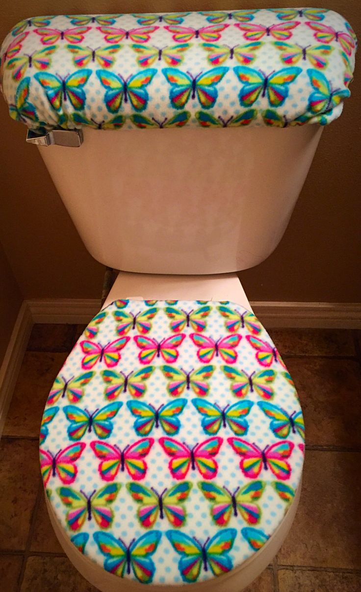 Butterfly Toilet seat cover by CrazyCovers4you on Etsy