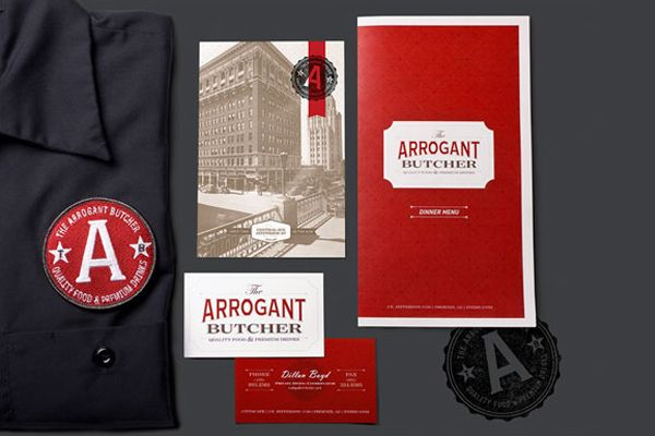 The Arrogant Butcher identity design