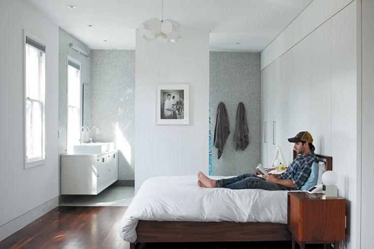 Badezimmer im Schlafzimmer: ein eleganter und praktischer Trend