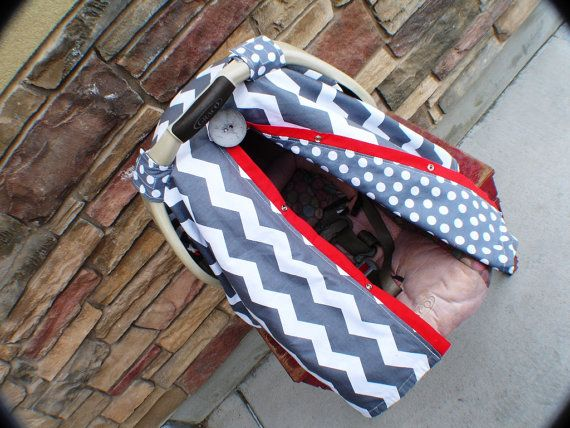 Carseat Canopy Free Shipping Code Today Chevron By CoveredNLove1