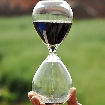 Colorful sand glass sandglass hourglass timer 5/10/30/60minutes 8 Colors O