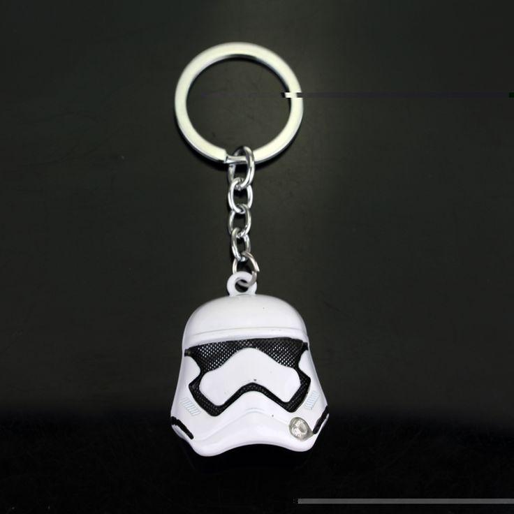 Hot Game Star Wars Keychain 3D StormTrooper Helmet Storm Trooper pendant Key Chain Ring Darth Vader Mask Superhero Keyring #Affiliate