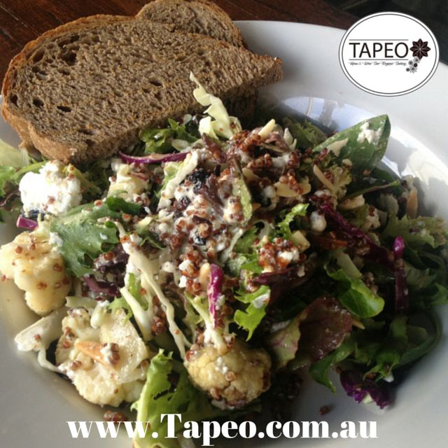 Boost your day with a #Quinoa #Cauliflower & #Brocolli #salad at Tapeo: 82 Redfern St, Redfern NSW. Check out our menu at http://www.Tapeo.com.au & follow us on FB http://FB.com.tapeo.au #tapeo #tapeocafe #tapeoredfern #tapeosydney #cafe #restaurant #sydneyrestaurant #sydney #redfern