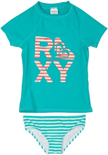 Roxy Kids Girls 2-6x Teenie Wahine Striped Rashguard Set for Havasu