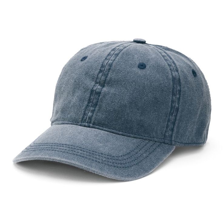 Women's Mudd® Washed Baseball Hat, Blue (Navy)