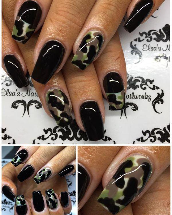 31 Camouflage Nail Designs ✨ CherryCherryBeauty.com