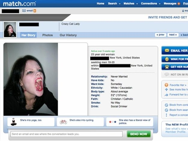 Tips for dating website profiles