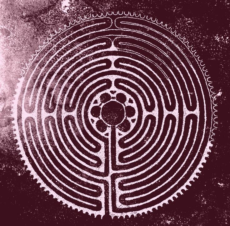 stenen labyrint