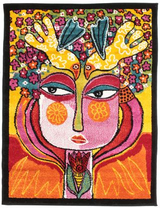 She has flowers in her hair carpet 100x130