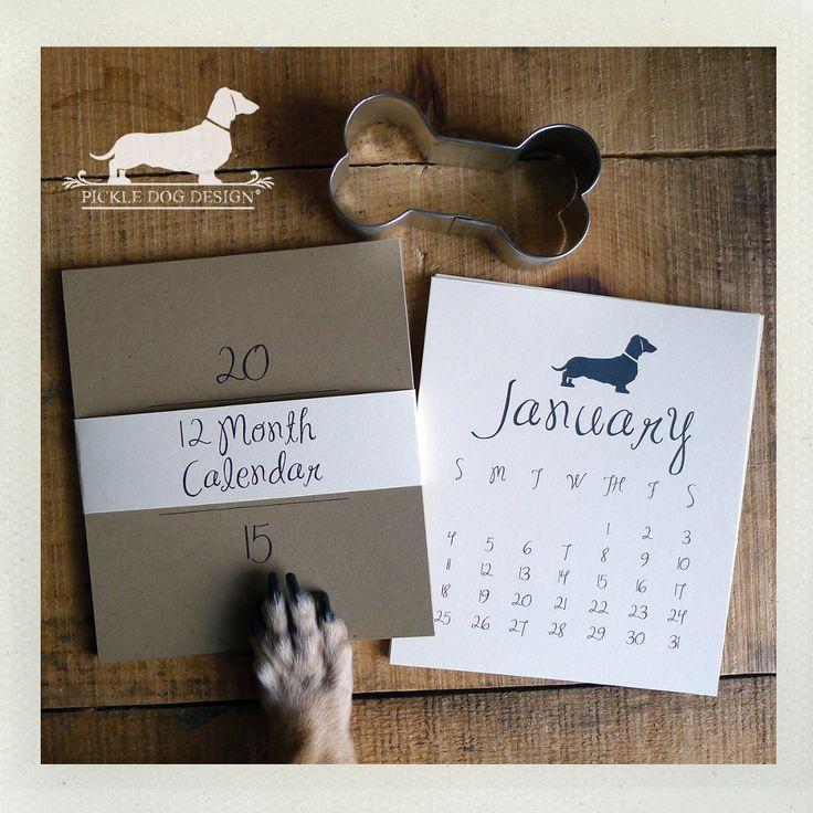 Doxie Desktop Calendar from Pickle Dog Design