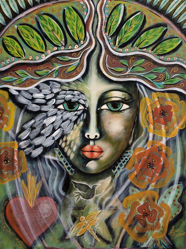 """Stardust Shaman"". Painted using Intentional Creativity Method - Acrylic on canvas  ART of Sisterhood"