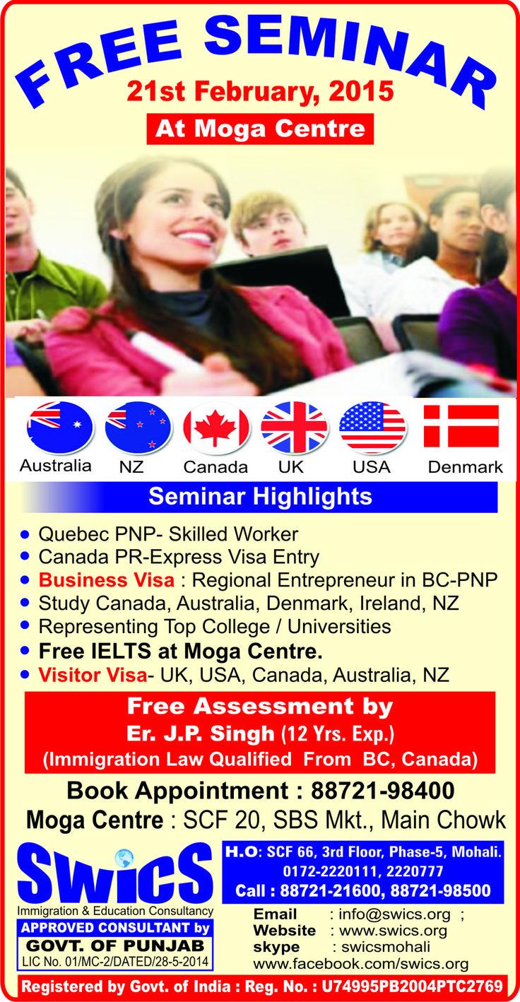 Seminar highlights quebec pnp skilled worker canada pr express visa entry business visa and