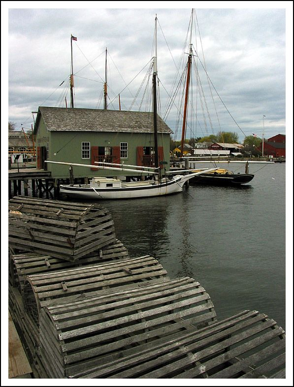 Lobster Traps at Mystic, Connecticut