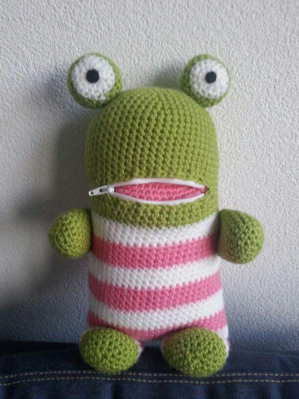 Kikker Zorgenvriendje Zorgvriendjes Haken Amigurumi Crochet En