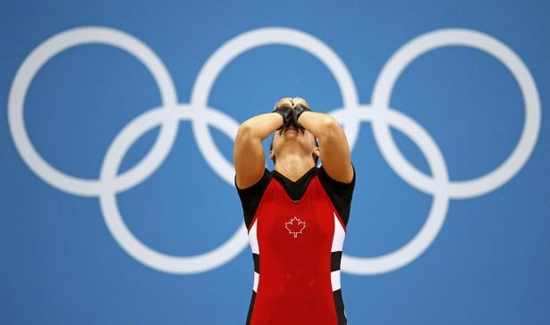 Bronze Medalist Christine Girard Women's 68 kg Weightlifting