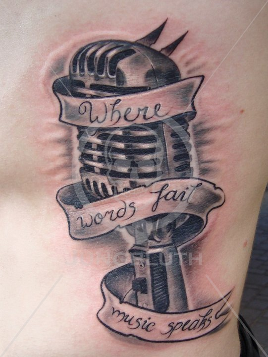 Where words fail music speaks  by Lilly | Jungbluth Tattoo