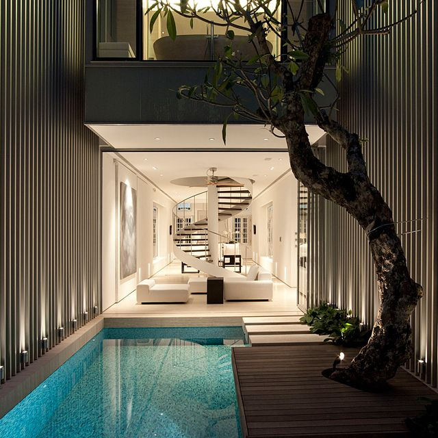 55 Blair Road by Ong & Ong: Indooroutdoor, Lap Pools, Indoor Pools, Dreams Home, Dreams Houses, Spirals Stairca, Swim Pools, Indoor Outdoor, Indoor Trees