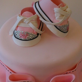 @KatieSheaDesign Likes-->    love these little fondant shoes ♥