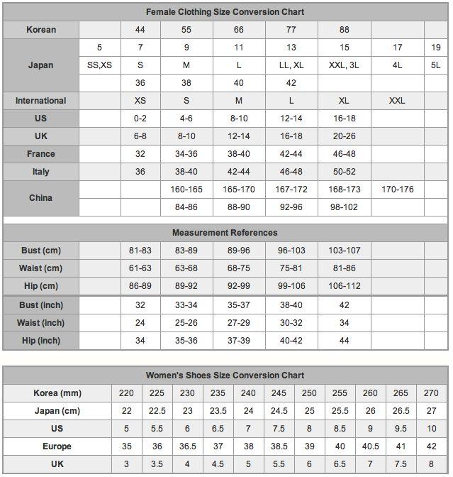 New Adidas Size Charts  MechanicS Corner